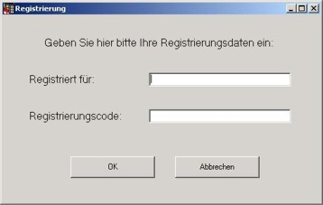 Registrierungsfenster